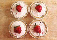 Mini Strawberry No Bake Cheesecake - Growing Up Blackxican
