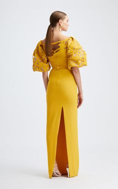 Party Fashion, Runway Fashion, Women's Fashion, Dress Prom, Prom Dresses, Shades Of Yellow, Long Dresses, Cocktail Dresses, Dress To Impress
