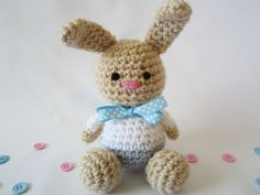 Crochet Baby Rattle, Crochet Baby Toy, Shower Gift, Stuffed Bunny by CROriginals on Etsy, $22.00