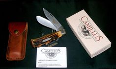 "Camillus 716 Knife & Sheath ""Dual Locking Trapper"" 1990's NOS W/Packaging,Papers @ ditwtexas.webstoreplace.com"