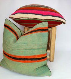 Moroccan Handwoven 100% pure Wool Berber Cushion Cover 52 x 56 CM STUFFED