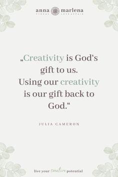 Julia Cameron, Web Design, Logo Design, Corporate Identity Design, Quote Art, Live For Yourself, Slogan, Online Marketing, Flow