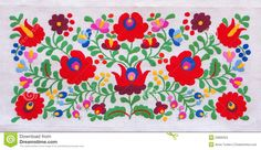 Photo about Traditional Hungarian embroidery with floral motives. Image of embroidery, linen, green - 20809353 Embroidery Designs, Crewel Embroidery Kits, Embroidery Patterns Free, Learn Embroidery, Mexican Embroidery, Hungarian Embroidery, Chain Stitch Embroidery, Motif Floral, Embroidery Techniques