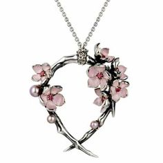 Silver Cherry Blossom Hoop Pendant, Pink Pearls   Shaun Leane would be nice for the bridesmaids to wear for the wedding