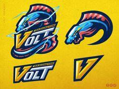 Team Logo Design, Mascot Design, Logo Design Services, Logo E Sports, Vector Logos, Gaming Logo, Electric Eel, Esports Logo, Logo Maker