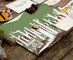Casebolt Design: Summer and Seth Wedding Invitations Woodland Wedding Invitations, Wedding Invitation Design, Wedding Stationery, Invitation Ideas, Casual Wedding, Diy Wedding, Summer And Seth, Do It Yourself Wedding, Stationery Design