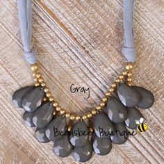 Anthropologie+gris+collar+collar+babero+por+BeadsbeeBoutique,+$13.00