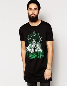 ASOS Super Longline T-Shirt With Cypress Hill Print And Skater Fit