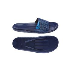 Adidas Carozoon M Sandals (Navy Blue) Non-absorbent quick-dry EVA bandage upper. Allover adidas print on bandage. Contoured footbed for comfort. Injected EVA outsole for lightweight comfort. Sandals Outfit, Fashion Sandals, Dress Shoes, Adidas Sandals, Sport Sandals, Women Sandals, Business Shoes, Slipper Sandals, Mens Slippers