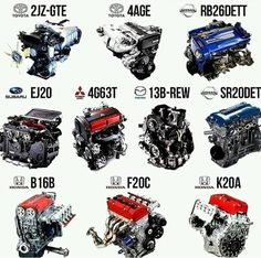 Best JDM engines ever made Tuning Motor, Car Tuning, Subaru, Tuner Cars, Jdm Cars, Mazda, Jdm Engines, Race Engines, Japan Cars