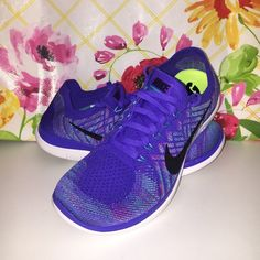 FINAL PRICE!! NIKE Free 4.0 Flyknit WMNS Nike Free 4.0 Flyknit in size 10.  Purple/teal/ pink. So comfortable.  Great running shoe with barefoot ride insole.  Includes box without top. Store took top off to display shoes.  NWT Nike Shoes Athletic Shoes
