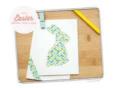 Washi Tape Ideas: A Super Easy Easter Card by Fox and Star
