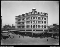 Buckingham's department store on Oxford Street, Sydney, Photo from National Library of Australia. Terra Australis, The 'burbs, Sydney City, Oxford Street, History Photos, Historical Architecture, Historical Pictures, City Buildings, Sydney Australia