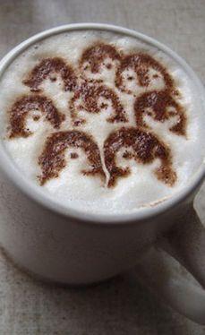 Penguins Latte Art