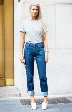 Tuck in your tee and add heels.