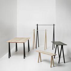 Benk, Ask/Hvit - Nomess Copenhagen @ Entryway Furniture, Fine Furniture, Furniture Design, Santa Cecilia, Little Green House, Console Table, Dining Table, Caravan Home, Sofas