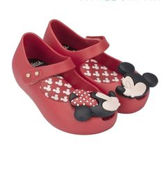 Mini Melissa - Ultragirl Disney Twins Micky & Mini Mouse shoes in Red