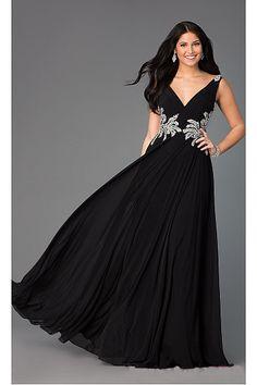Modern Long Floor-length Zipper Chiffon Prom Dresses