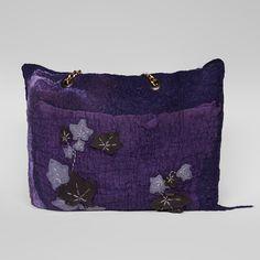 Felted bag Nunofelt Bag Wearable art Handbag by SwellEcoFashion