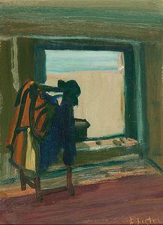 Albert Pfister  Interieur - Stillleben mit Kleiderständer Painting, Art, Switzerland, Still Life, Auction, Art Production, Painting Art, Art Background, Kunst