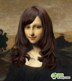 蒙娜丽莎换个发型之后变女神 我都记不起她原来啥样了