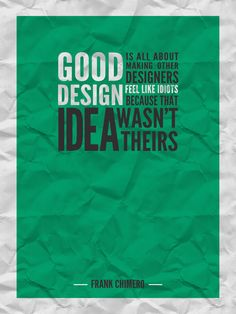 Good design...    Andrei Bocan, via Behance