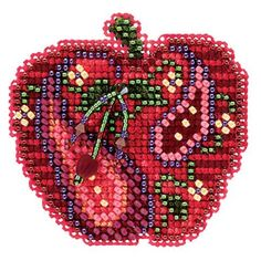 Mill Hill® Jeweled Apple Counted Cross-Stitch and Bead Kit - Herrschners