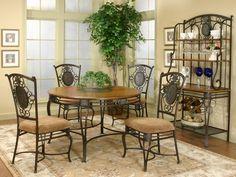 Nice 4 Seater Wrought Iron Dining T.... Dining FurnitureWrought ...