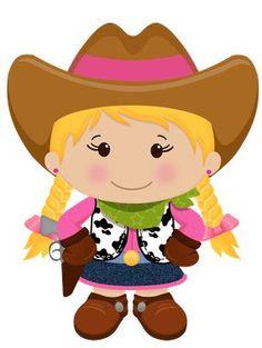 Cowgirl / Vaqueira / Country / Western / Velho Oeste / Festa / Decoração / Faroeste / Clipart / Desenho