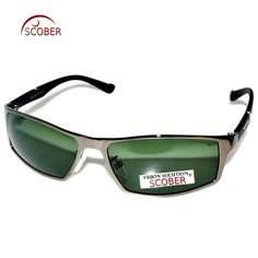 927f10983e7 SCOBER   TR90 Temple Designers Polarized Sunglasses Gray Brown Blue Lens  Custom Made Nearsighted Minus
