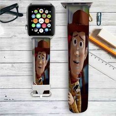 Woody Toy Story Disney Custom Apple Watch Band Leather Strap Wrist Band Replacement 38mm 42mm