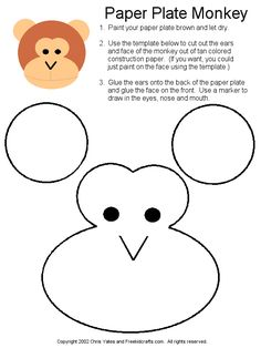 Paper Plate Monkey Template