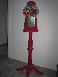 Old bubble gum machine
