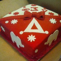 Beautiful Cake-Delta Sigma Theta Inc Aka Sorority, Sorority Life, Delta Sigma Theta, Delta Design, Delta Girl, First Love, My Love, Fraternity, Creative Gifts