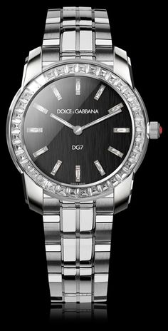 Women s Watch - White Gold Strap and Black Dial - D amp G Watches  bab5d22ce44