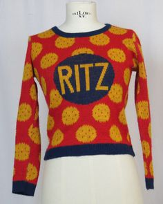 Vintage Ritz Cracker Sweater. So Adorable by AmericanRagVintage, $34.95