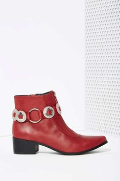 Grey City Warren Concho Leather Bootie - Shoes