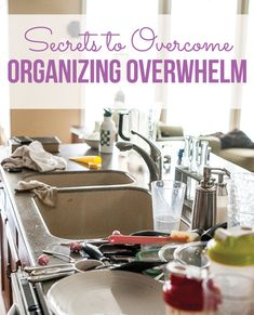 Secrets to overcoming organizing overwhelm PLUS a free project tracker printable.