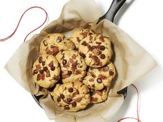 Peanut Butter-Chocolate Chip-Bacon Cookies from #FNMag
