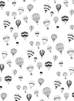 Hand-drawn 'Hot Air Balloon' design Art Print by Ameliamakes Balloon Logo, Air Balloon Tattoo, Ballon Illustration, Cute Wallpapers, Small Tattoos, Screen Printing, Design Art, How To Draw Hands, Art Prints