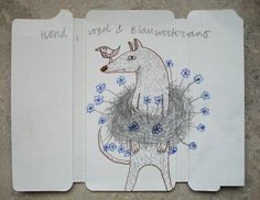 Hond, vogel en blauwerkrans