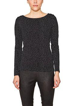 edc by ESPRIT Damen Langarmshirt Stripe Henley, Gestreift, Gr. 38, Grau  (COBBLE GREY 023) | ESPRIT Damen T-Shirt | Pinterest | Henleys and Gray