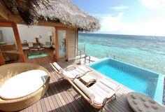 Huvafen Fushi, Maldives - Lagoon Bungalow pool