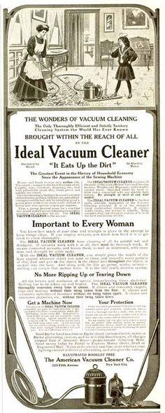 1908 AMERICAN IDEAL VACUUM CLEANER AD