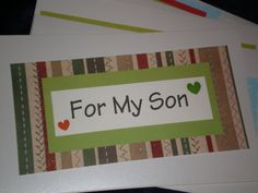 Items similar to Patchwork Father's Day Card For My Son on Etsy Preppy Men, Mothers Day Cards, Fathers Day, Card Ideas, Sons, Guy, Gifts, Scrappy Quilts, Preppy Guys