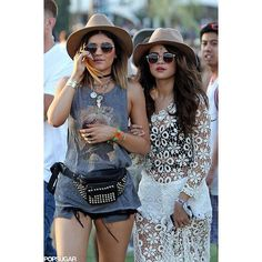 #WCW Kylie and Selena, the ultimate festival beauties.  Who's your favorite festival babe?