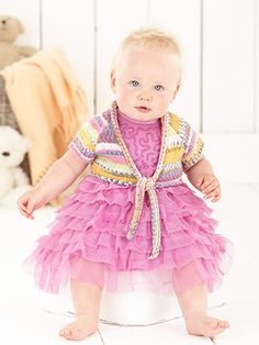 Design from Crofter Girls Book (475) - 16 hand knit designs for babies, girls and boys from birth to 7 years using Sirdar Snuggly Baby Crofter Dk | English Yarns