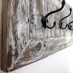 Rustic Reclaimed Wood Coat Or Towel Rack For Entryway Or Mudroom