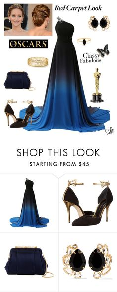 """""""Red carpet Contest!"""" by wonderfullyme64 ❤ liked on Polyvore featuring Oscar de la Renta, Bounkit and Bing Bang"""