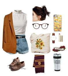 """Vintage geek"" by mxgvi ❤ liked on Polyvore featuring Retrò, Forte Forte, STELLA McCARTNEY, American Eagle Outfitters, Free People, Stila, Daniel Wellington, Casetify and vintage"